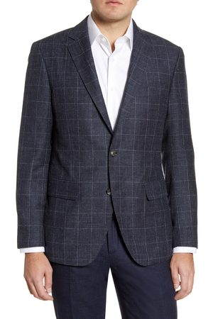 Rodd & Gunn Men's Portland Spray Classic Fit Windowpane Wool Blend Sport Coat