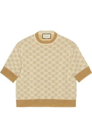 Gucci Interlocking G lamé knit top - Neutrals