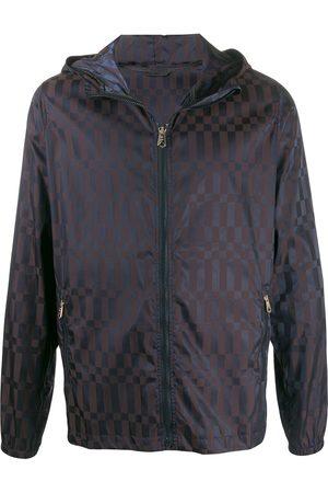 Paul Smith Rectangular print rain jacket