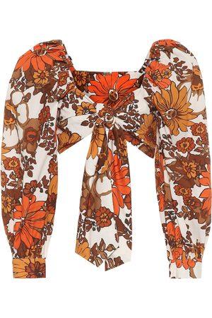 DODO BAR OR Women Crop Tops - Floral cotton crop top