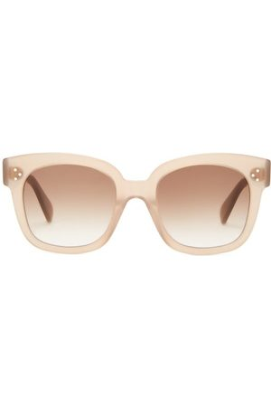 Céline Oversized Round Acetate Sunglasses - Womens - Light