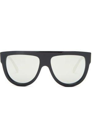 Celine Eyewear Mirrored Flat-top Acetate Sunglasses - Womens