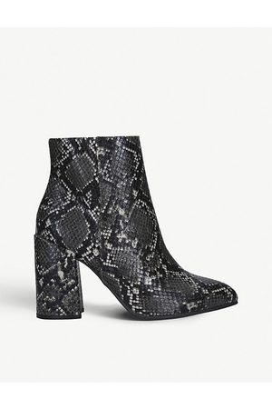 Steve Madden Therese snakeskin-print leather boots