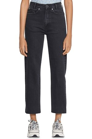 Sandro Jayn High-Rise Straight-Leg Ankle Jeans in
