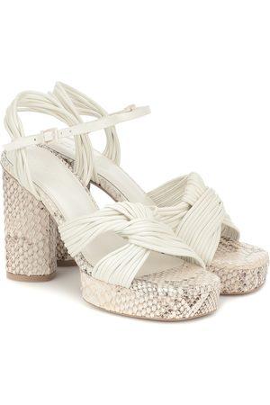 Mercedes Castillo Calisse leather platform sandals