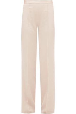 PALLAS X CLAIRE THOMSON-JONVILLE Éclair Satin-striped Crepe Trousers - Womens - Light