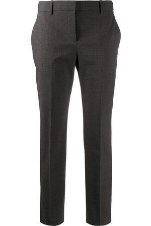 THEORY Women Pants - High waist tapered leg trousers - Grey