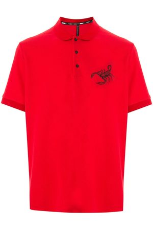 Blackbarrett Scorpion print polo shirt