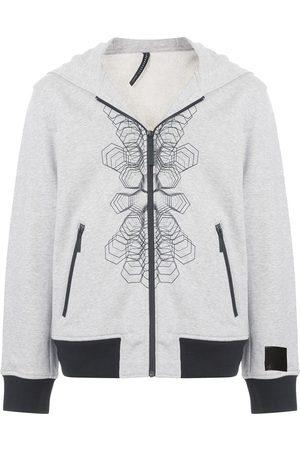Blackbarrett Graphic print zip-up hoodie - Grey