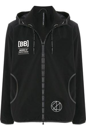 Blackbarrett Graphic print zip-up hoodie