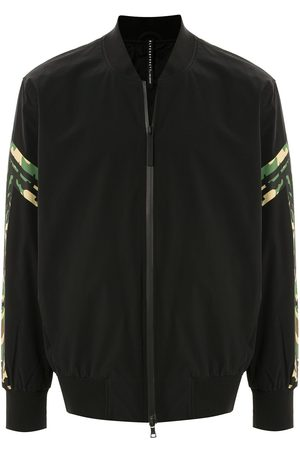 Blackbarrett Camouflage-print panelled bomber jacket
