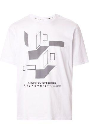 Blackbarrett Geometric-print logo T-shirt