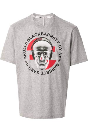 Blackbarrett Graphic print cotton T-shirt - Grey