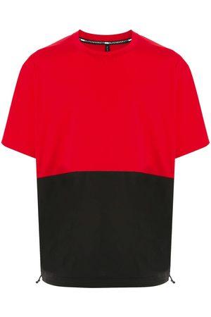 Blackbarrett Two-tone drawstring-hem T-shirt