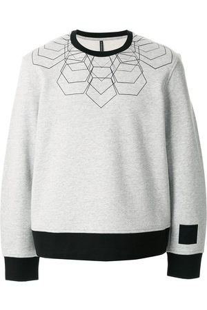 Blackbarrett Contrast-trimmed cotton sweatshirt - Grey