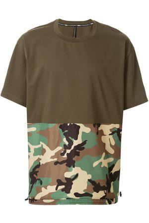 Blackbarrett Camouflage-print panelled T-shirt