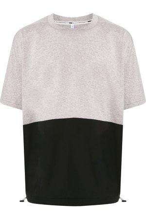 Blackbarrett Men T-shirts - Two-tone drawstring-hem T-shirt