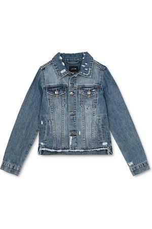 Joes Jeans Girls' Distressed Denim Jacket - Little Kid