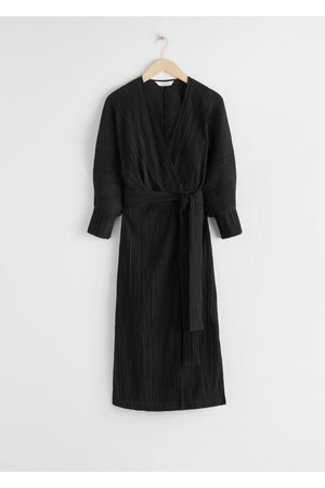 & OTHER STORIES Belted Wrap Midi Dress