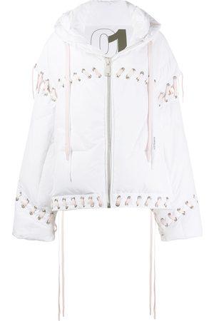 Khrisjoy Oversized lace-up puffer jacket