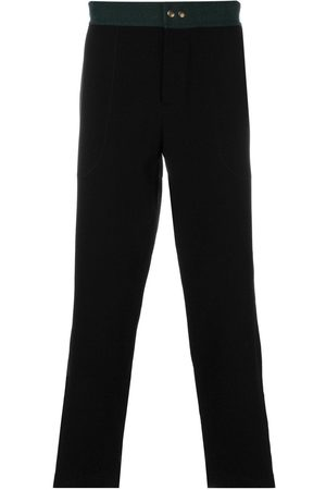 Mr & Mrs Italy Men Sweatpants - Contrast waistband jogging trousers