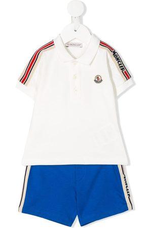 Moncler Side striped shorts set