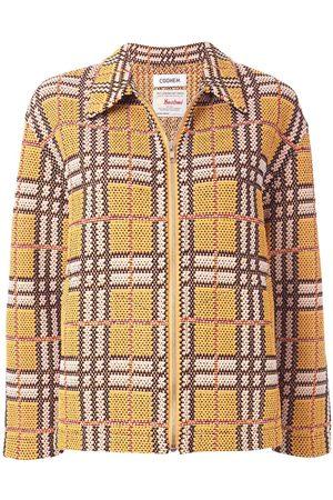 Coohem Zipped tartan tweed jacket