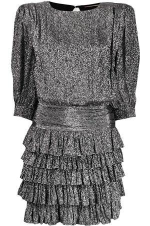 Saint Laurent Women Party Dresses - Ruffle trim mini dress
