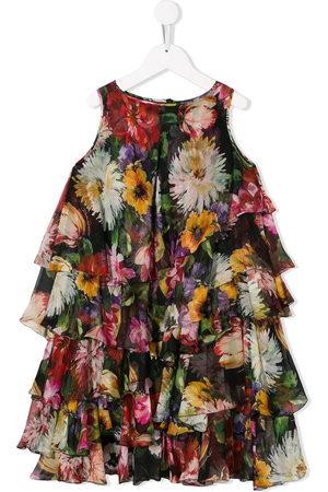 Dolce & Gabbana Kids Girls Printed Dresses - Floral print dress