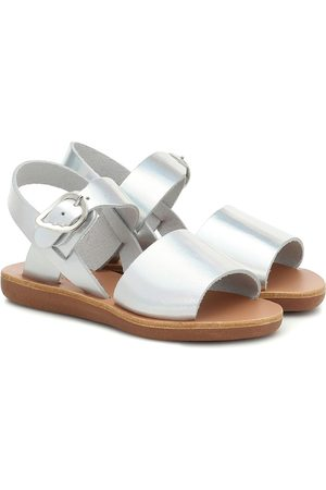 Ancient Greek Sandals Little Kaliroi metallic leather sandals