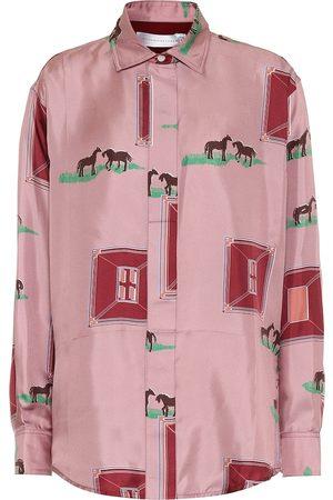 Victoria Beckham Printed silk shirt