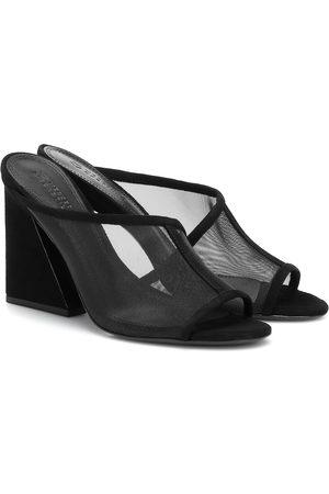 Mercedes Castillo Lathasa leather and mesh sandals