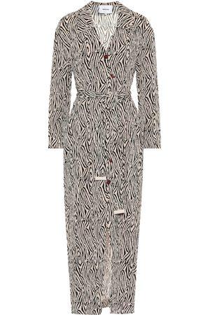Nanushka Capri zebra-print maxi dress