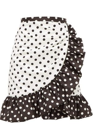 RODARTE Ruffled Polka-dot Skirt - Womens