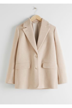 & OTHER STORIES Women Blazers - Wool Blend Oversized Blazer