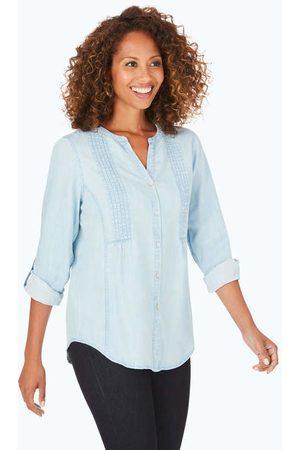 Foxcroft Kira Solid Tencel® Shirt