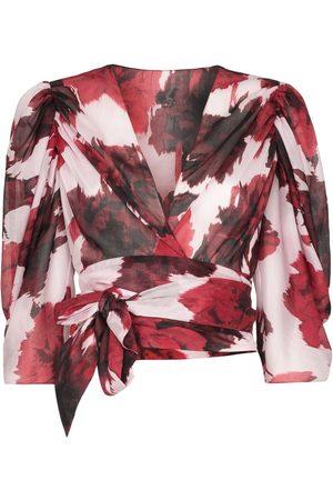 ALEXANDRE VAUTHIER Floral print wrap blouse