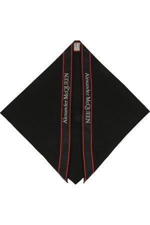 Alexander McQueen Logo tape silk scarf