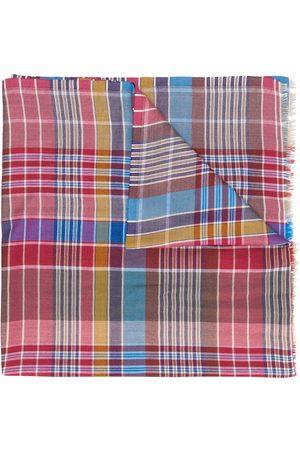 ETRO Men Scarves - Selvedged jacquard tartan pattern scarf