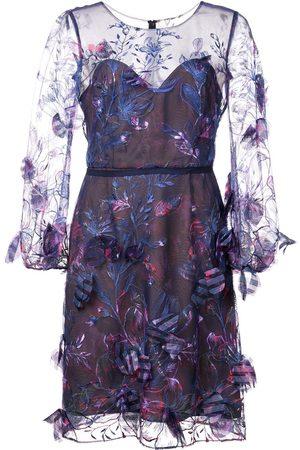 Marchesa Notte Embellished sheer dress
