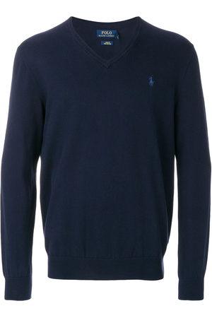 Polo Ralph Lauren Logo embroidered V-neck jumper