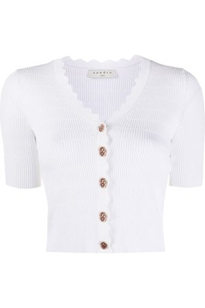 Sandro Women Cardigans - Short-sleeve cropped cardigan