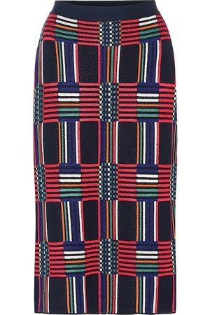 Tory Sport Checked jacquard pencil skirt