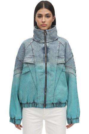 Stella McCartney Women Denim Jackets - Retro Gradient Denim Windbreaker Jacket