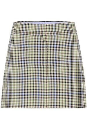 tibi Checked miniskirt