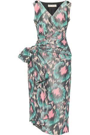 Marni Printed cotton-blend midi dress