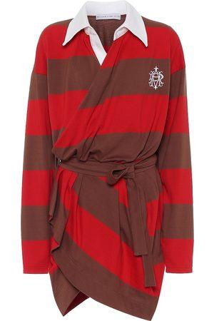 MATTHEW ADAMS DOLAN Striped cotton minidress