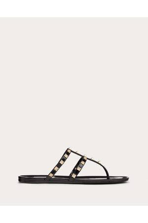 VALENTINO GARAVANI Women Sandals - Rockstud Flat Rubber Sandal Women Pvc - Polyvinyl Chloride 100% 35