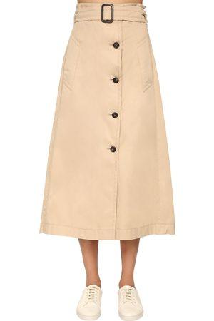 Max Mara Cotton Gabardine A Line Skirt
