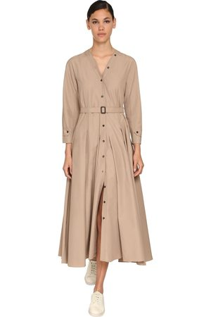 Max Mara Cotton Nylon Canvas Midi Dress